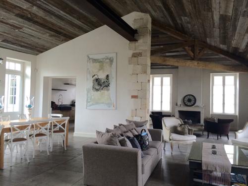La Villa du Clos. Cuisine et salon, un espace de rêve