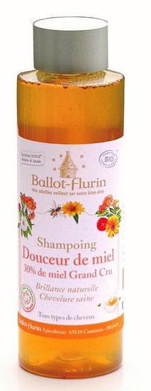 Ballot Flurin, shampoing miel, issu de la gamme de l'apicosmétique !