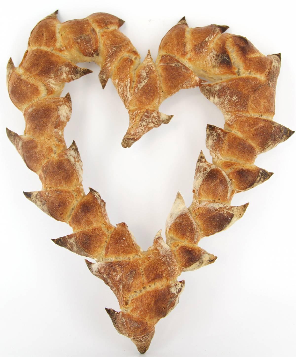 Pain épi coeur à la Grande Epicerie de Paris, Saint-Valentin. J-10 pour vous (re)mettre la corde au cou !