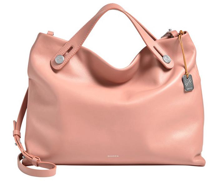 Le sac Mikkeline de Skagen en cuir rose lisse., Saint-Valentin. J-10 pour vous (re)mettre la corde au cou !