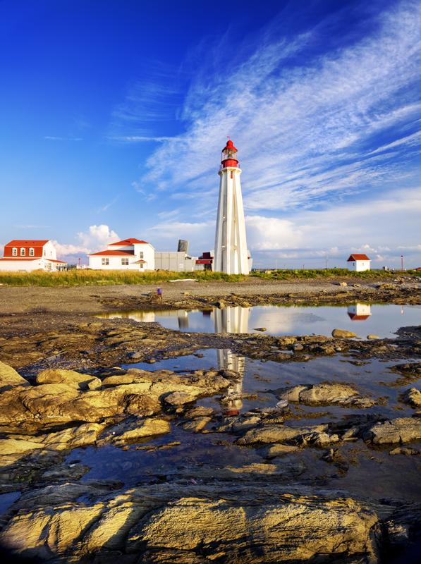 Québec maritine, le phare Pointe Peres