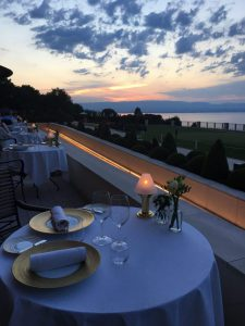 Savoie, lac Léman, Évian, terrasse, hôtel royal