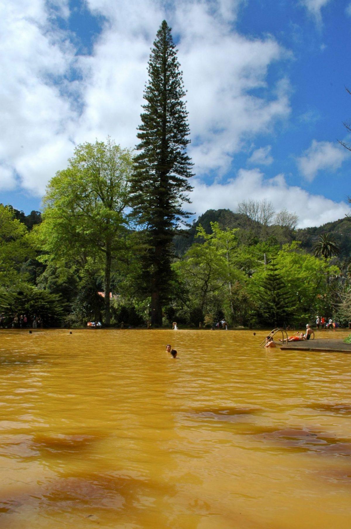 Portugal, Açores, Terceira, San Miguel, eaux ferrugineuses