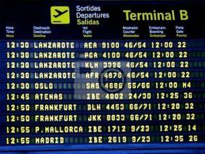 première, fois, avion, aeroport