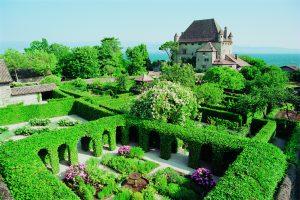 Savoie, Lacs de Savoie, Yvoire, Jardin des Cinq sens