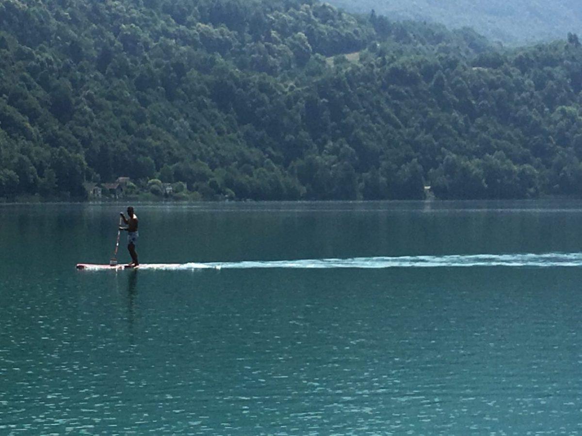 Savoie, paddle, lac, aiguebelette