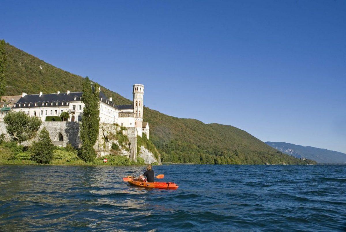 Savoie, Lacs de Savoie, Lac du Bourget, Hautecombe, canoe-kayak