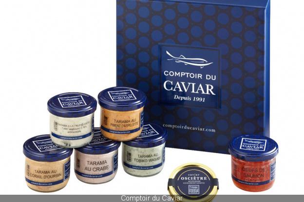 caviar, coffret, comptoir du caviar