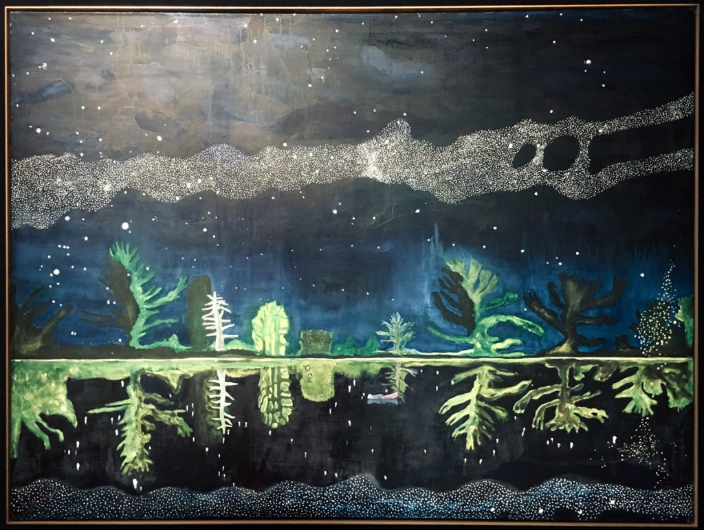 "Milky Way, Peter Doig, ""peindre la nuit"""