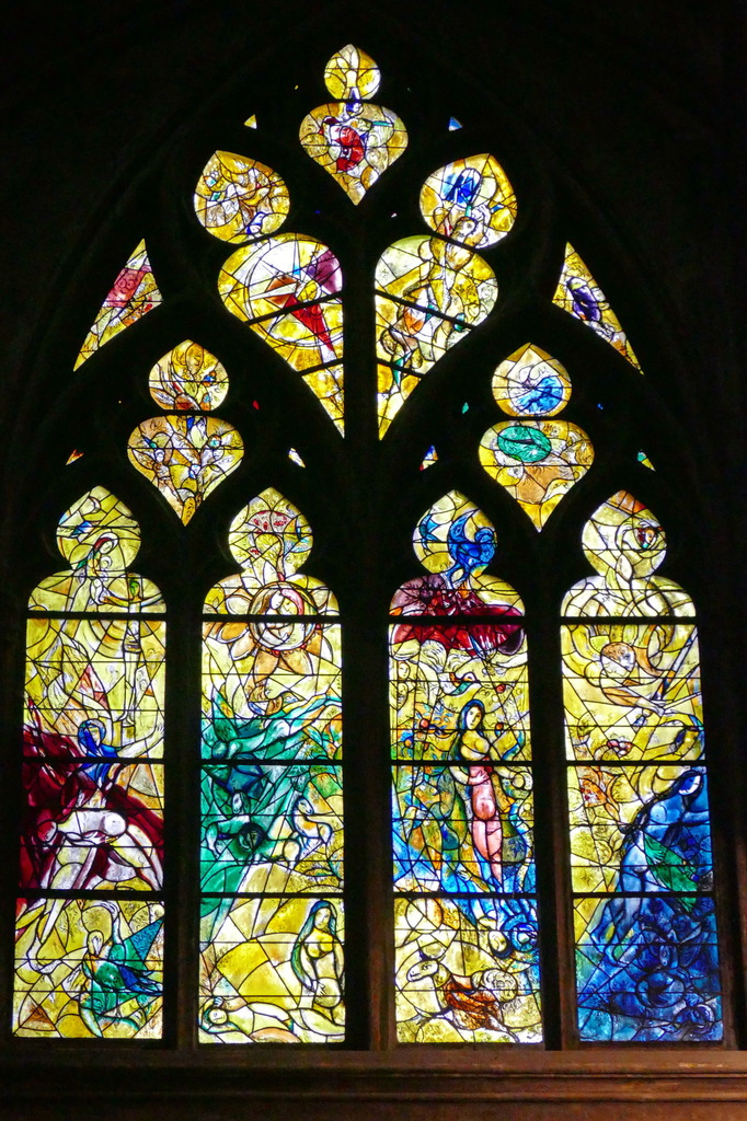vitraux, Chagall, Transept, cathédrale de Metz.
