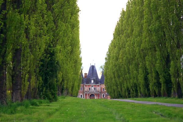 Hôtel Bonnemare, l'allée de peupliers