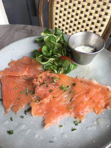 Succulent saumon fumé