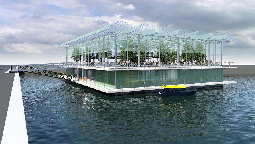 La ferme flottante à Rotterdam
