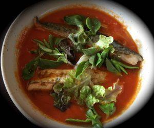 soupe tomate et maquereaux