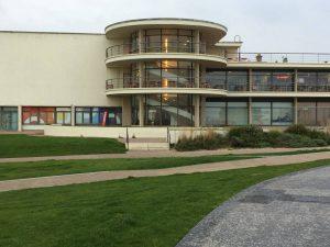 L'arrièere du De La Warr Pavilion à Bexhill