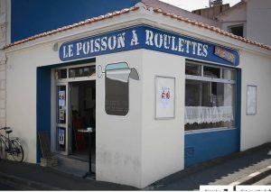 La Chaume, quartier des Sables d'Olonne et son phare : Le Poisson à Roulettes !