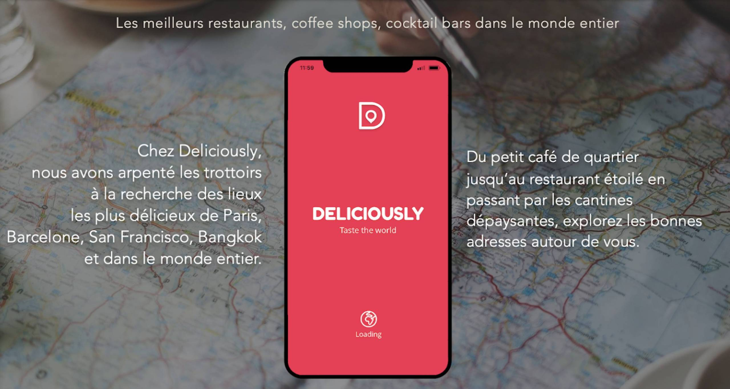Deliciously, l'application «restaurants» autour du monde !