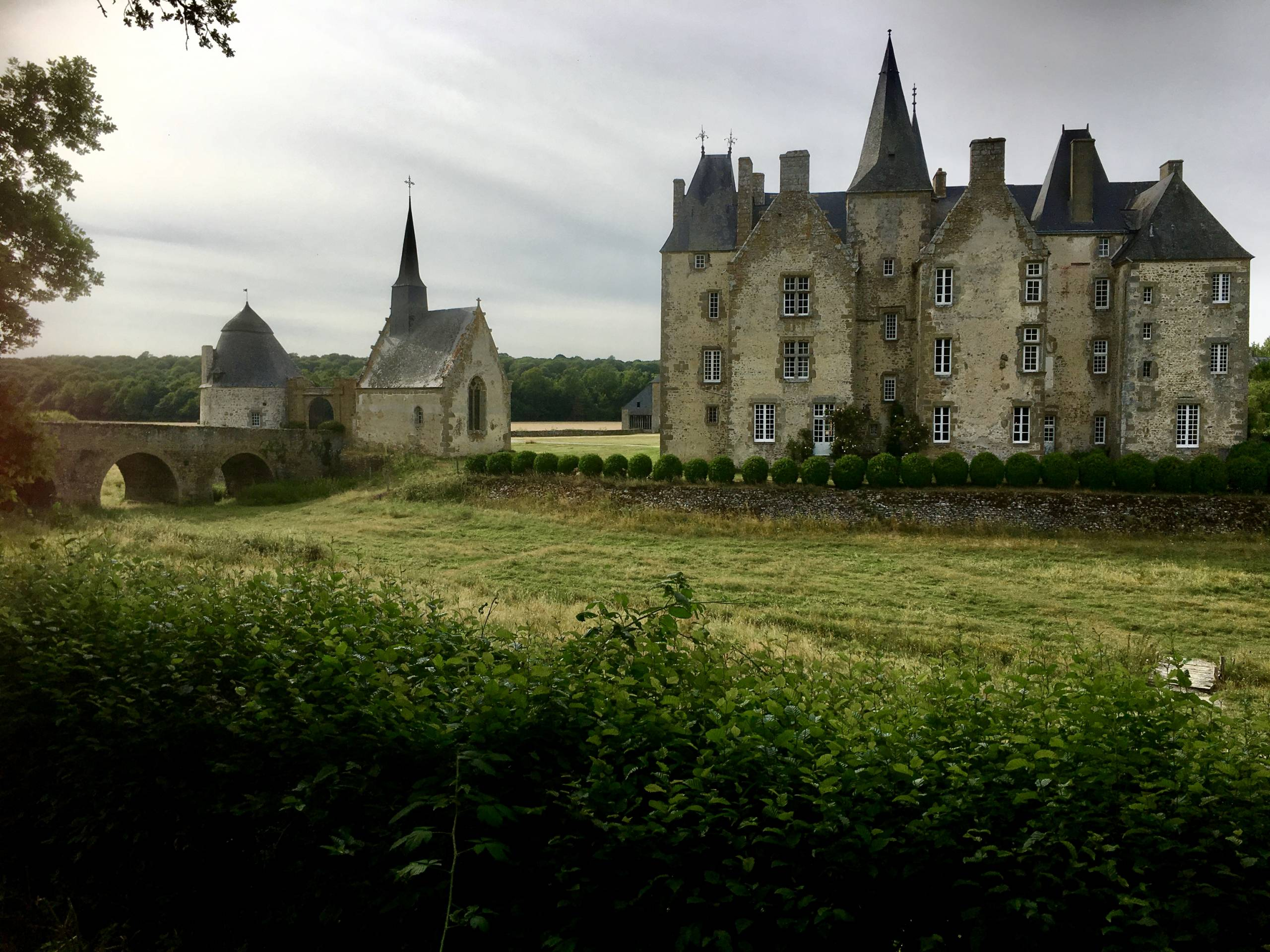 Pause enchanteresse au château de Bourgon en Mayenne